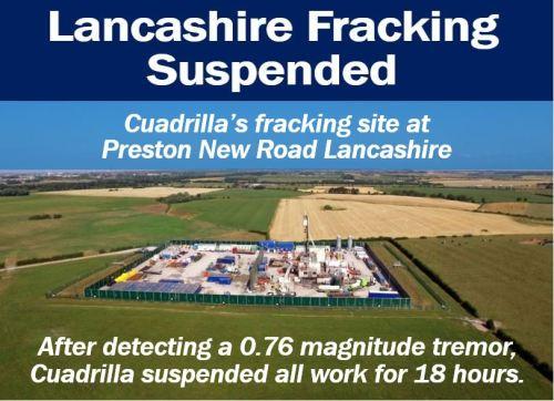 Earthquake halts Lancashire fracking