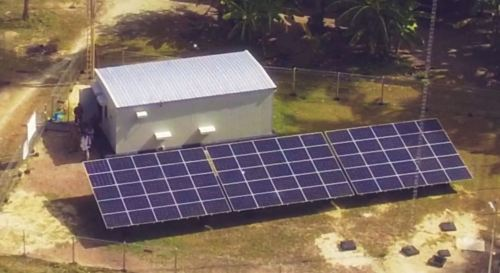 green rechargeable battery system in solar installation