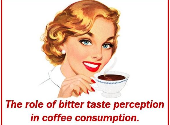 Bitterness in taste of coffee and coffee consumption