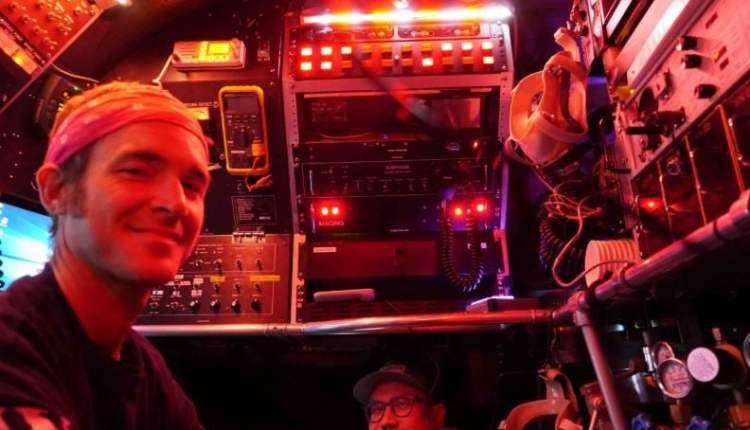 Brett Baker and pilot in submersible