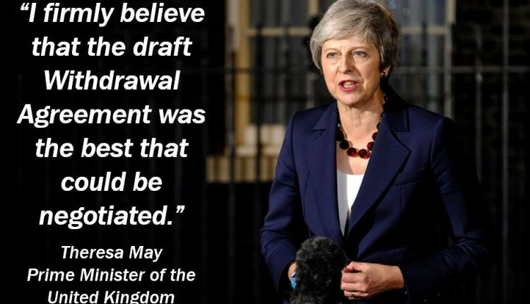 Theresa May talking about the Draft Withdrawal Agreement
