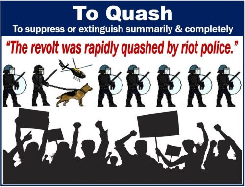 To quash - definition and example