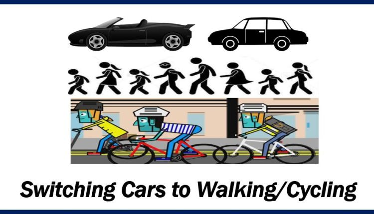 Cars on foot and cycling