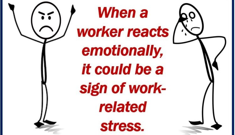 Sign of work-related stress