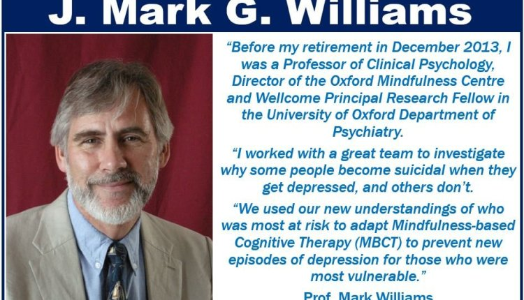Mark Williams – mindfulness