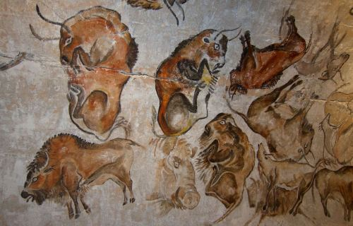Writing styles article - cave wall painting in Spain