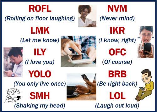 Writing styles - texting abbreviations