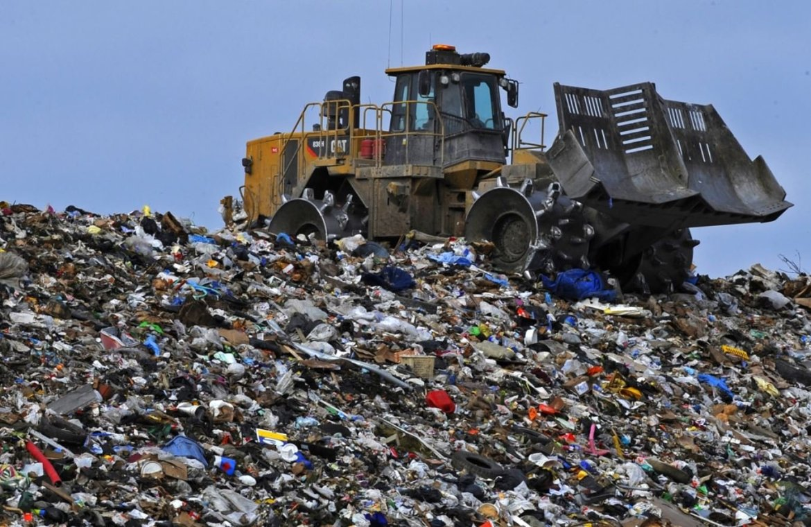 Land Pollution - municipal waste landfill image