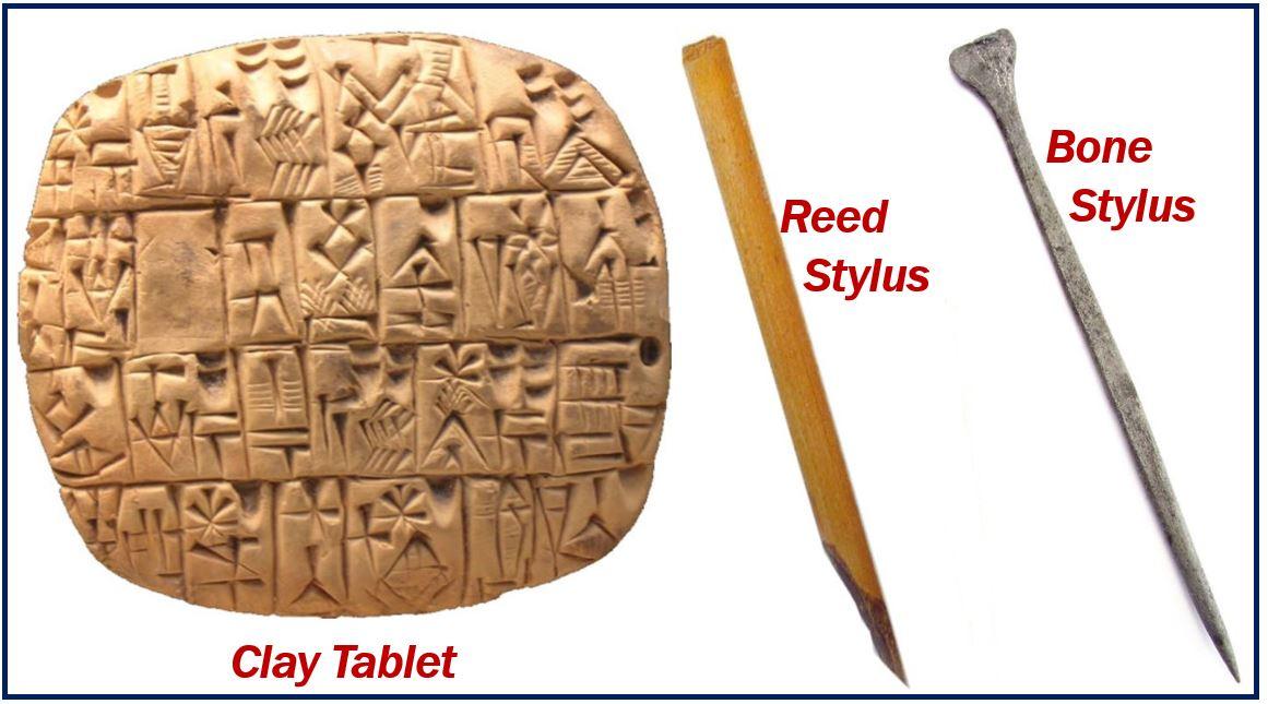 Sumerian writing - image