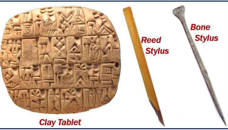 Sumerian writing – image