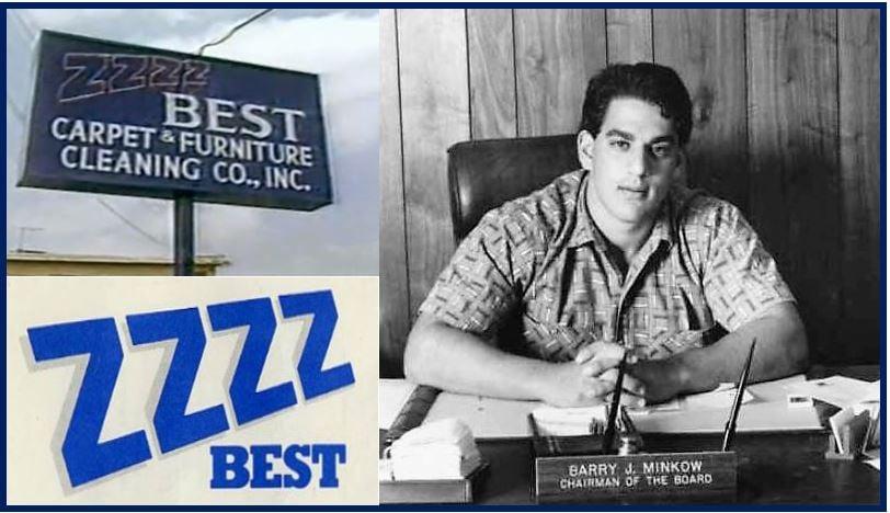 Barry Minkow and ZZZZ Best logo