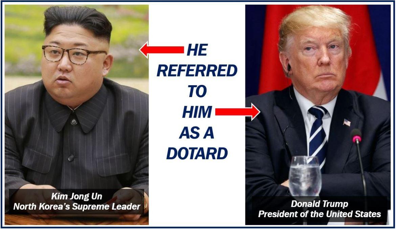 Dotard Kim to Trump