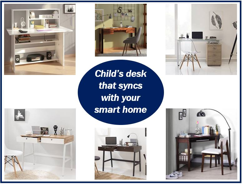 Desk for child in smart home