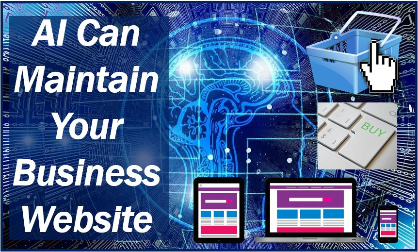 Artificial intelligence to maintain business website