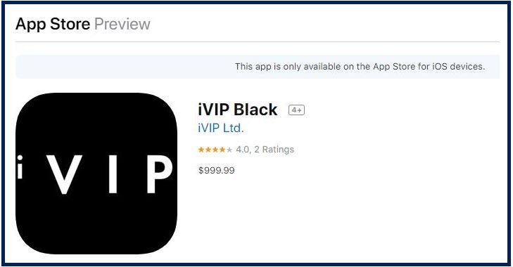 iPhone apps VIP Black image 3333