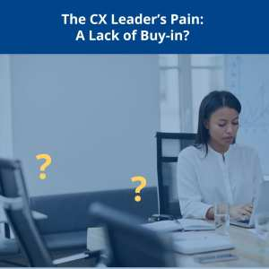 CX-ROI too fuzzy and no buy-in from senior leaders