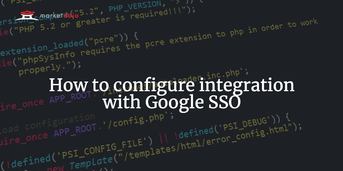 How to configure integration with Google SSO