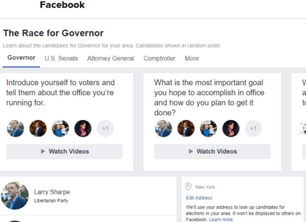 เลือกตั้งกลางเทอม Facebook