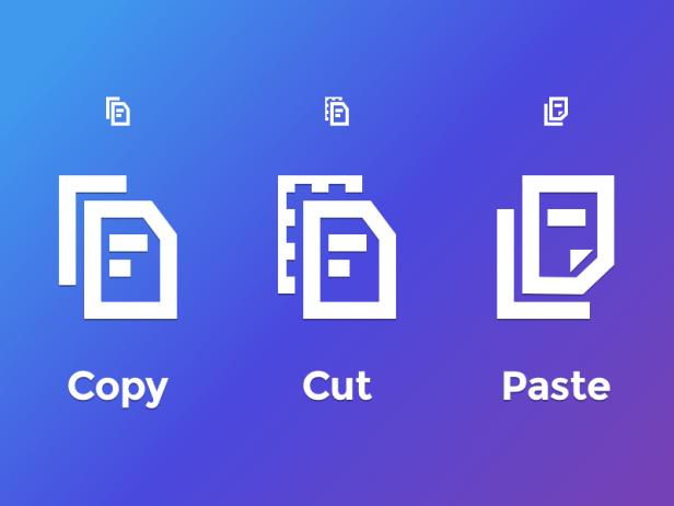 Cut Copy Paste Icon 2 Larry Tesler