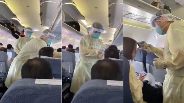ไต้หวัน Virus on Plane screen