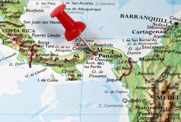 panama map 3 ปานามา