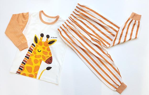 Olomimi hello giraffe pyjamas product showing
