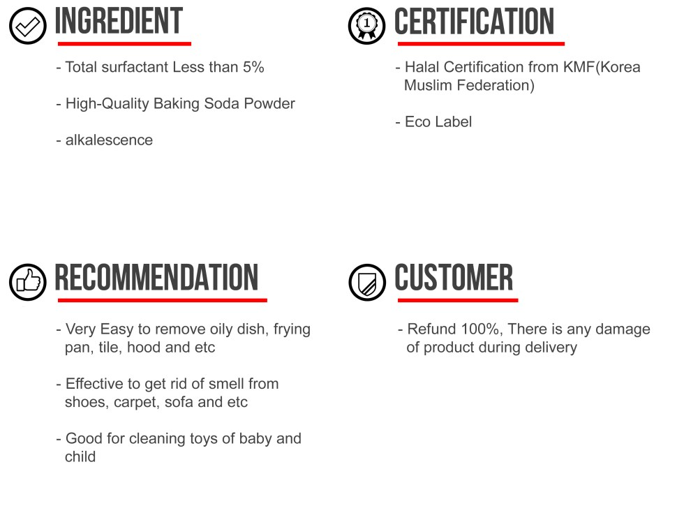 Mr. Zetta Baking Soda Product Info