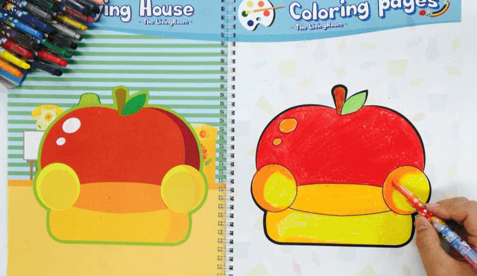 Colorpopup colouring book playing house 1