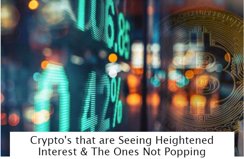 Crypto's that are Seeing Heightened Interest amp The Ones Not Popping 1
