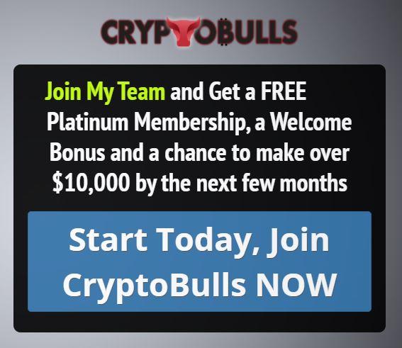 Limited time CryptoBulls Offer - Free Platinum Membership plus more 1