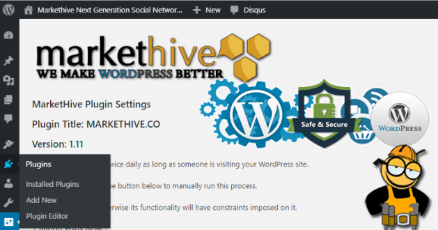 Wordpress Markethive plugin