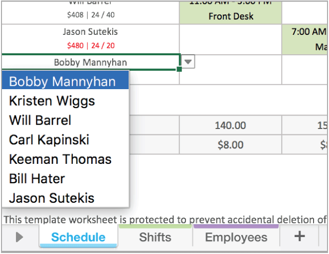 Schedule shifts for your employees efficiently with these templates. Employee Scheduling Excel Template When I Work