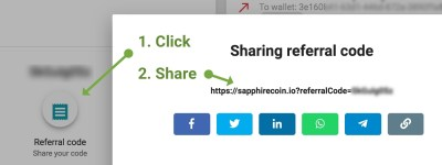 How to share referral code for purchase