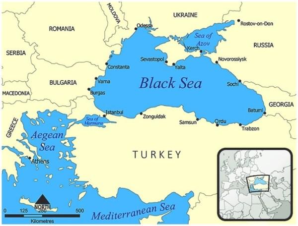 Black Sea Region Map