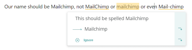 Mailchimp Style Guide Name Rule Automation
