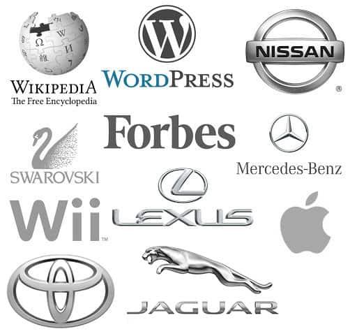Grafikai tervezés példák logó készítés témájában ezüst szín