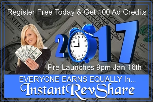 InstantRevShare – 500 Credits for Signup