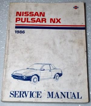 1986 NISSAN PULSAR NX COUPE Factory Dealer Shop Service