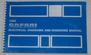 1992 GMC SAFARI VAN SLE SLT Electrical Wiring Diagrams