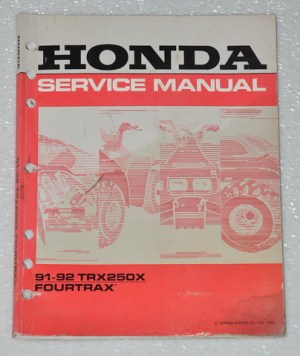 1991 1992 HONDA FOURTRAX 250X TRX250X Factory Shop Service Repair Manual 250 | eBay