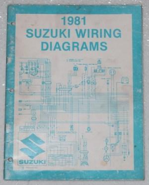 1981 SUZUKI Motorcycle Electrical Wiring Diagrams Manual 81