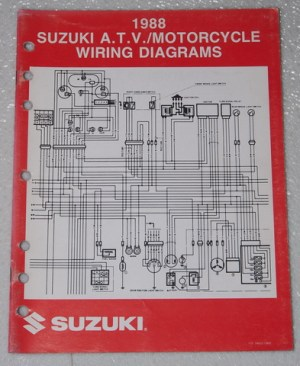 1988 SUZUKI Motorcycle and ATV Electrical Wiring Diagrams