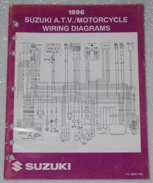 1996 SUZUKI Motorcycle ATV Wiring Diagrams Manual