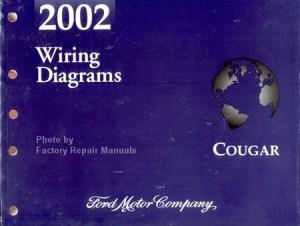 2002 Mercury Cougar Electrical Wiring Diagrams  Original Shop Manual  Factory Repair Manuals