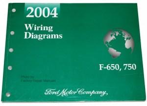 2004 Ford F650 F750 Medium Duty Truck Electrical Wiring