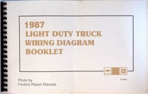 1987 Chevy 10 20 30 Truck Suburban Blazer G Van Wiring