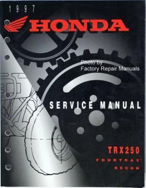 1997 Honda FourTrax Recon 250 Factory Service Manual TRX250 Original Shop Repair | eBay