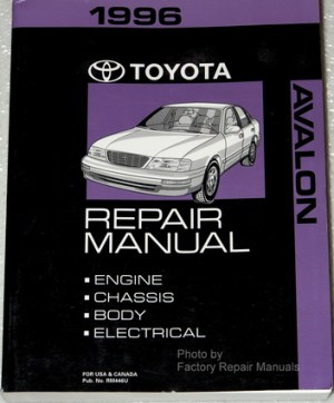 1996 Toyota Avalon Factory Service Manual Original Shop