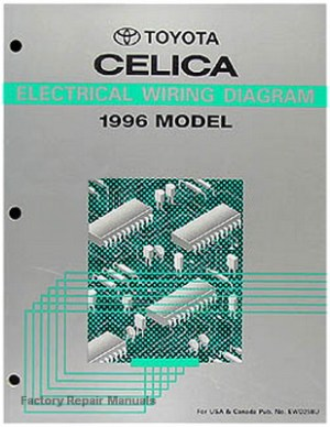 1996 Toyota Celica Electrical Wiring Diagrams Original