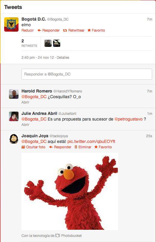 Twitter Bogotá Elmo Trolls